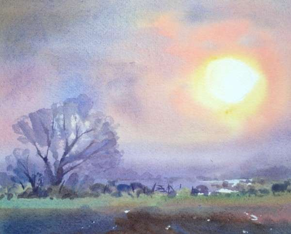 Watercolour - Sussex Marshes