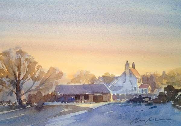 Hillside Farm - Watercolour