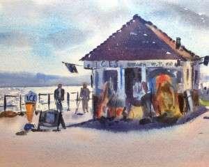 Summertime Beach Hut & Ices