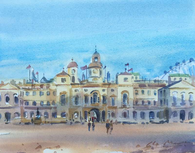 Horse Guards Parade - London - Watercolour