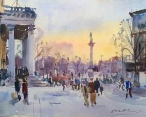 Trafalgar Square London Watercolour