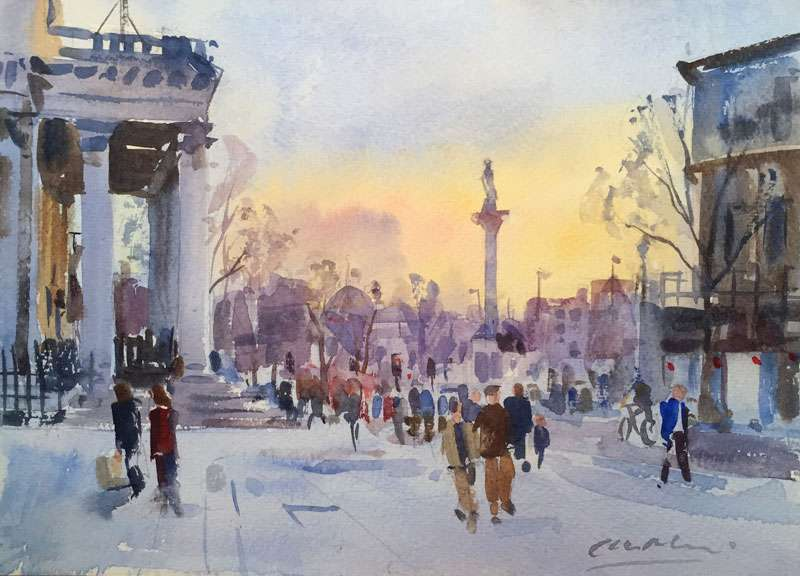Watercolour - Trafalgar Square London