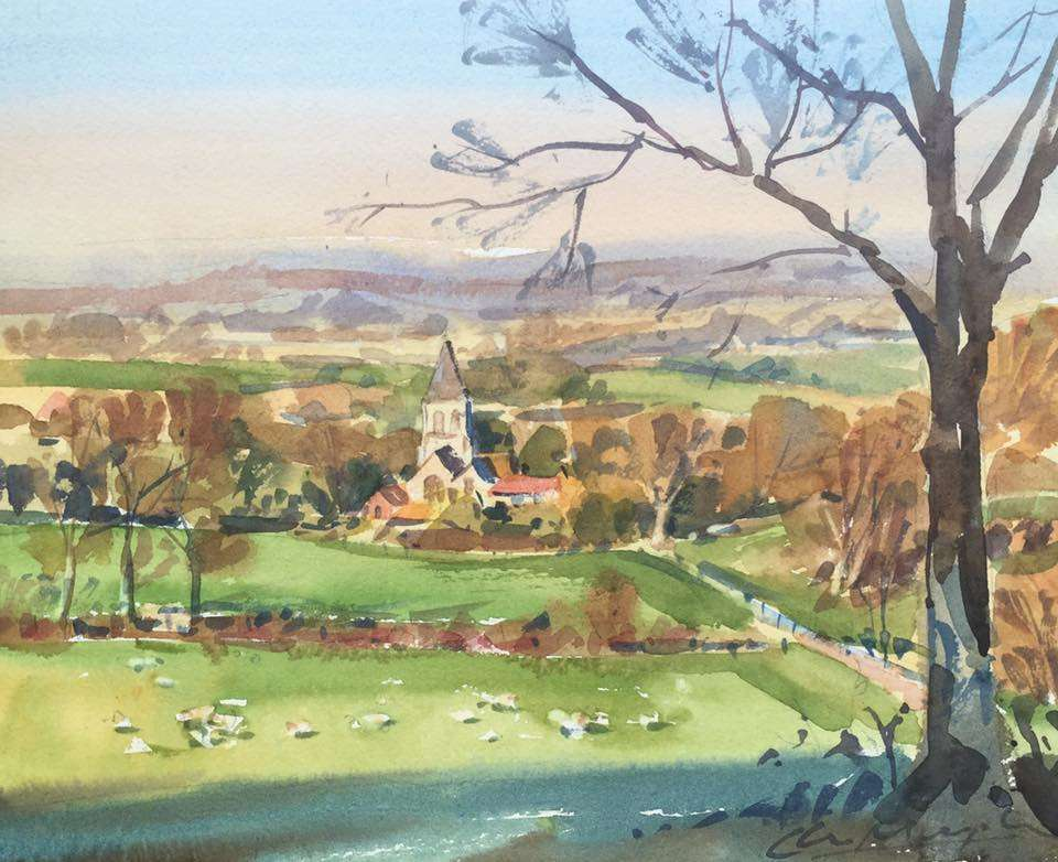 Watercolour - Offham East Sussex