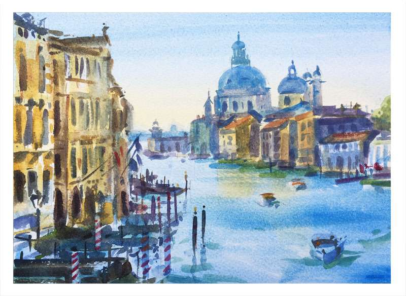 Watercolour of Venice Italy