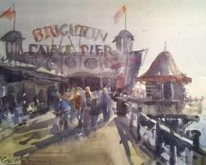 Palace Pier Brighton Watercolour